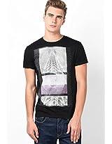 Black Scuba/S Light Round Neck T-Shirt
