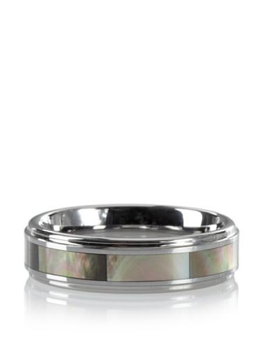 GÖTZ Switzerland Tungsten Abalone Ring (Silver)