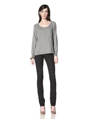 Central Park West Women's Dante Pocket Sweater (Grey)