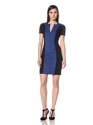 Black Halo Women's Palmer Colorblocked Dress (True Blue/Black)