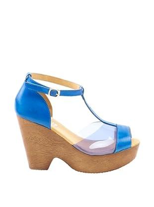 Misu Sandalias cuña (Azul)