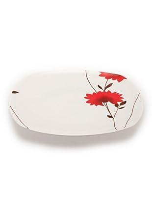 Tognana Piatto Portata Biarritz bianco/rosso