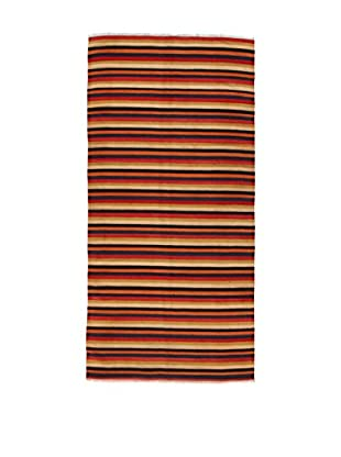 Design Community By Loomier Teppich Kilim Caucasico gelb/rot/orange 140 x 284 cm