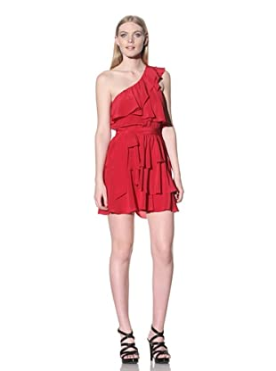 Jay Godfrey Women's Robertson One-Shoulder Tiered Dress (Red)