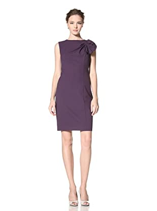 Calvin Klein Women's Sleeveless Heathered Dress with Shoulder Bow Detail (Mulberry Heather)