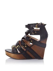Matt Bernson Women's Marion Wedge Sandal (Black)