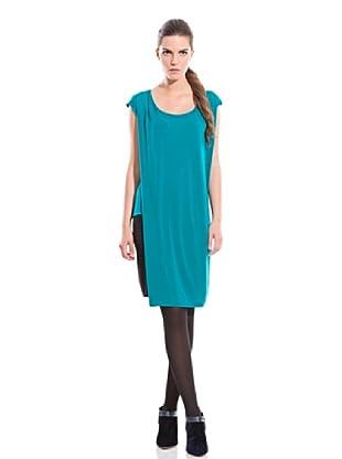 Cortefiel Vestido Bicolor (Azul)