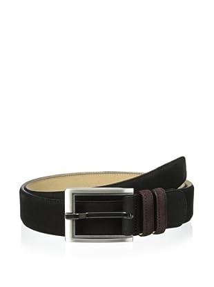 Mezlan Men's Suede Belt (Black/brown)