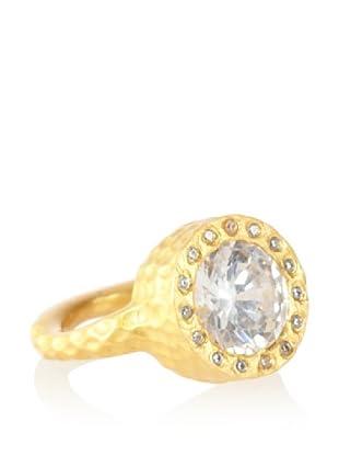 Kevia Hammered Bezel Ring