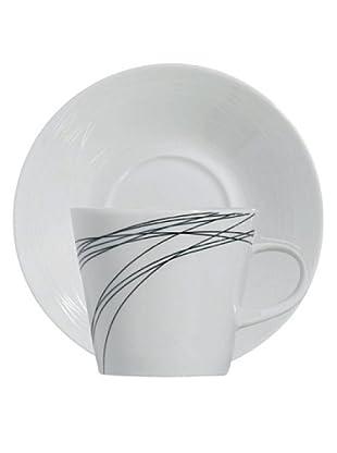 Luminarc Vajilla Redonda 30 Piezas Modelo Black Rings