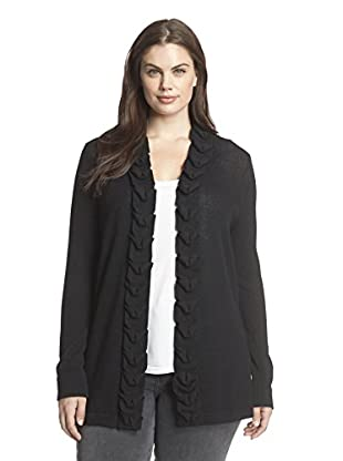 Cullen Plus Women's Cashmere Cardigan with Origami Trim