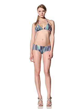 diNeila Women's Triangle Bikini Top & Bottoms (Chakra)