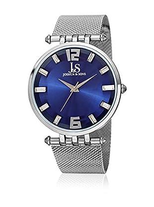 Joshua & Sons Uhr mit schweizer Quarzuhrwerk Man silberfarben 40.5 mm