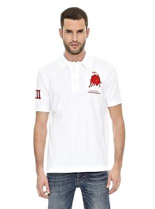 Lamborghini Polo shirt Bull 63 (Blanco)
