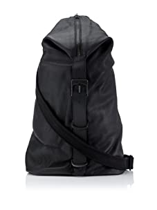 i.am Men's Leather Duffel Bag (Black)