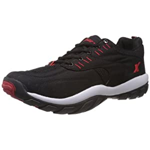 Sparx Men's Black and Red Running Shoes - 8 UK (SM-113)
