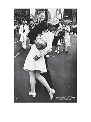 ARTOPWEB Wandbild Kissing On Vj Day