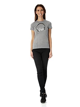 Vans Damen T-shirt Headphones, VO9NGRH (gray heather)