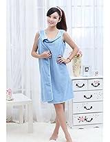 Magic Blue Smart Beach Towels bath robes Unisex Microfiber Best Soft Towel Bathrobe Skirts Cum Nighty