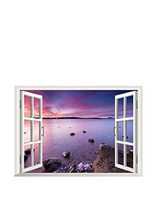 LO+DEMODA Wandtattoo Window Sea 3D