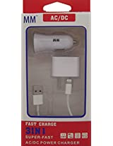 MM iPhone 6S 6S Plus 6 6 Plus 5S 5 Home Car Charger USB Cable 3 In 1 Charger