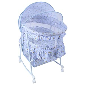 Fab N Funky Cradle With Mosquito Net - Blue