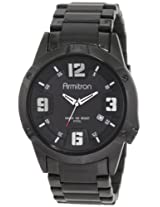 Armitron Men's 204692BKTI Black Plated Stainless-Steel and Black Dial Dress Watch