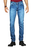 Dfu Men's Cotton Straight Fit Jeans ,Blue (36)