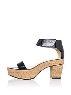 Calvin Klein Women's Odina Ankle-Strap Sandal (Black)