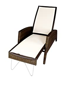 Les Jardins Kahuna Multi-Position Steamer Chair (Off White)