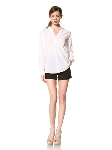 Splendid Women's One-Button Cotton Tunic (White)