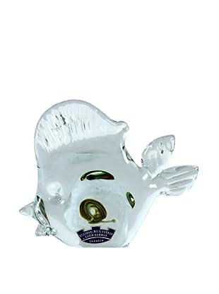 Fish Art Glass, Clear/Multi