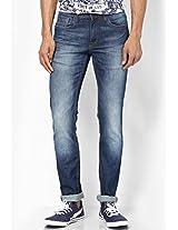 Blue Slim Fit Jeans V Dot