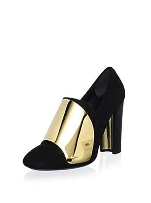 YSL Women's Cardinal Loafer Pump (Black/Gold)