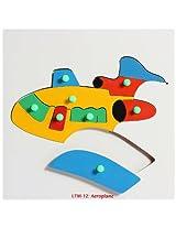Little Genius - Wooden Aeroplane Puzzle