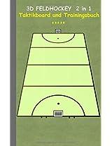 3D Feldhockey 2 in 1 Taktikboard Und Trainingsbuch