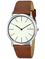 Skagen Theodar Analog Off-White Dial Men's Watch - SKW6083