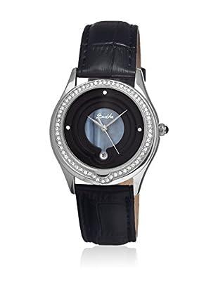 Bertha Uhr mit Japanischem Quarzuhrwerk Patricia schwarz 40 mm