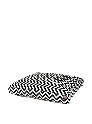 Chevron Small Rectangle Pet Bed, Black