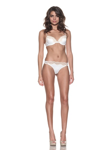 Elle Macpherson Intimates Women's Fly Butterfly Thong (Retro Cream)