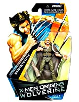 X-Men Origins Wolverine Comic Series 4 Inch Tall Action Figure - SABRETOOTH with 2 Clubs and Removab