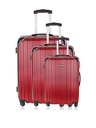 Travel ONE Set de 3 trolleys rígidos Rovigo Burdeos