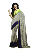 Faux Georgette Saree in Multicolor Colour for Casual Wear Wear