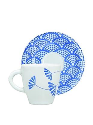 Molecuisine Set Taza De Cafécon Plato 4 Uds. Magatama Azul