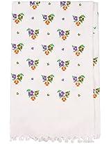 Prestine 240 TC Cotton Hand Towel - White