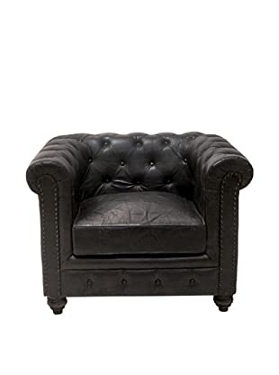 Chesterfield Club Chair, Raven Black