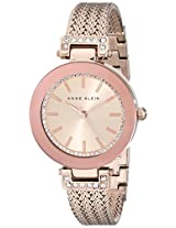 Anne Klein Women's 1906RGRG Swarovski Crystal-Accented Rose Gold-Tone Watch with Mesh Bracelet