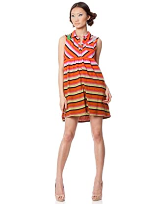 Custo Vestido Kan (Naranja / Negro)