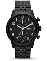 Fossil Townsman Black Stainless Steel Chronograph Mens Watch Fs4877