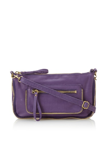 Linea Pelle Women's Dylan Amazing Zip Top Cross-Body (Amethyst)